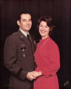 BG Eugene Fox and Evelyn in 1984