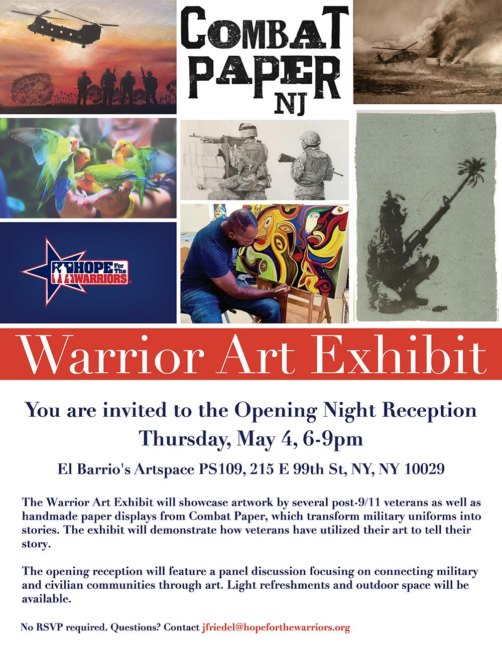 Warrior Art Exhibit_Flyer
