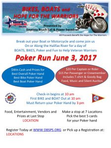 Boats, Bikes and Hope For The Warriors @ Daytona Beach Sail and Power Squadron