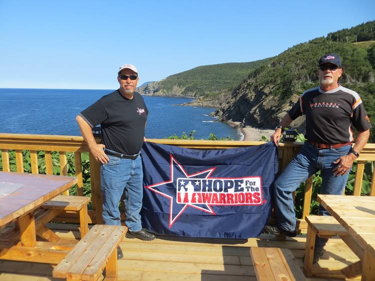(Left to Right): Michael Nehlsen and Jeff Molesko at Cabot Trail in Nova Scotia, Canada.
