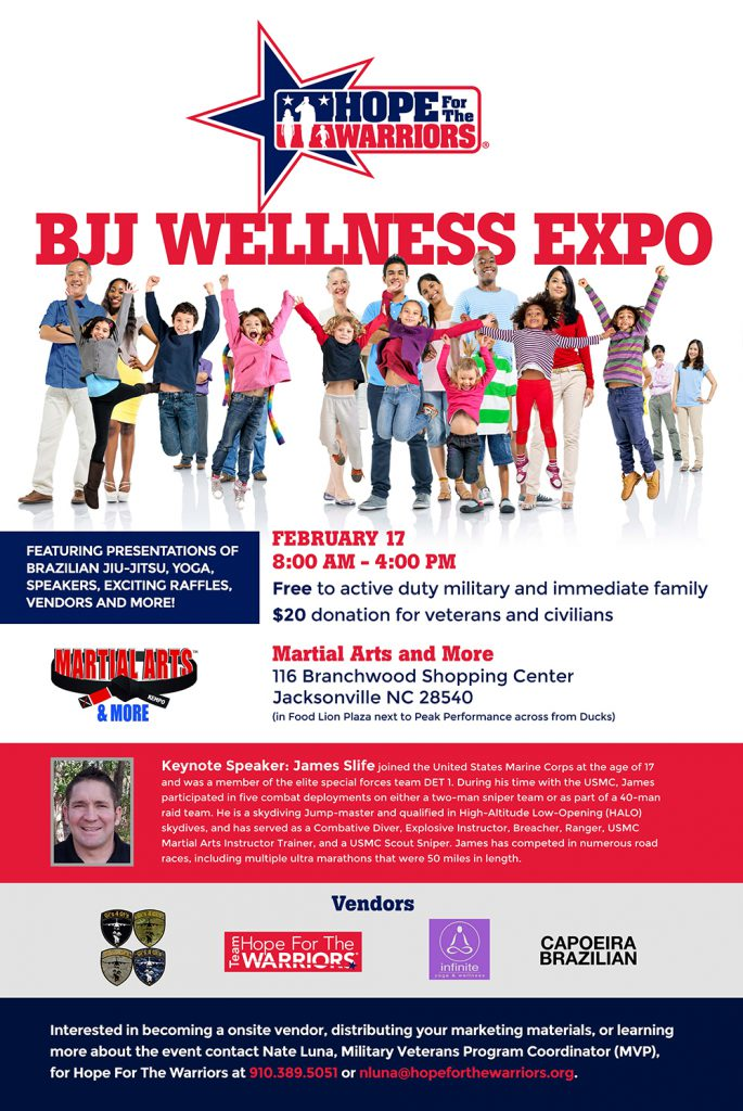 Hope For The Warriors BJJ Wellness Expo @ Martial Arts and More
