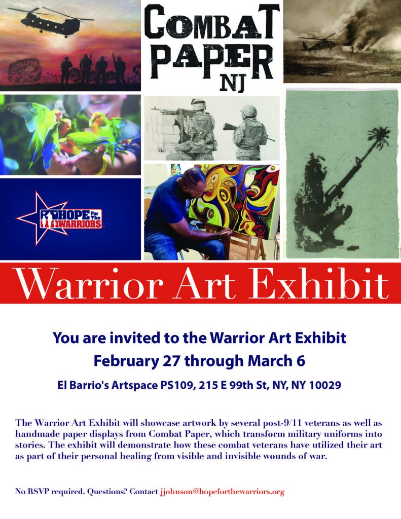 2018 Warrior Art Show @ El Barrio's Artspace PS109