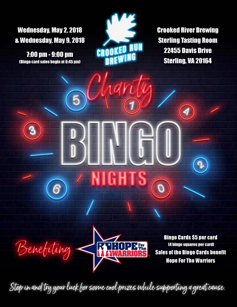 Crooked Run Brewing Charity Bingo Night @ Crooked Run Brewing