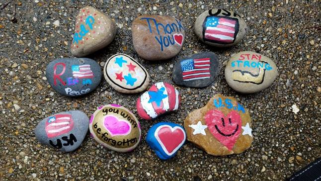 On behalf of Hope For The Warriors, West Springfield Girl Scout Troop 947 recently came together with other area Girl Scout troops for a rock painting event to honor fallen military members.   For more photos visit, https://bit.ly/2JlBSTE