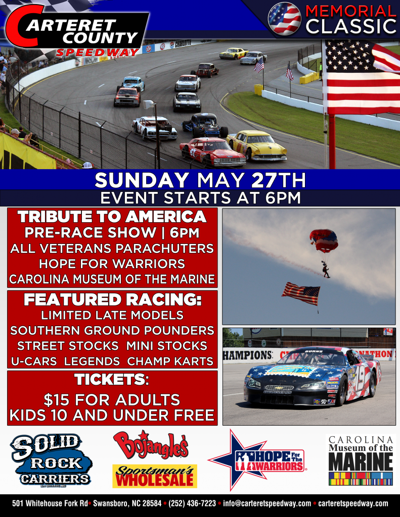Cape Carteret Speedway Memorial Day Race @ Cape Carteret Speedway