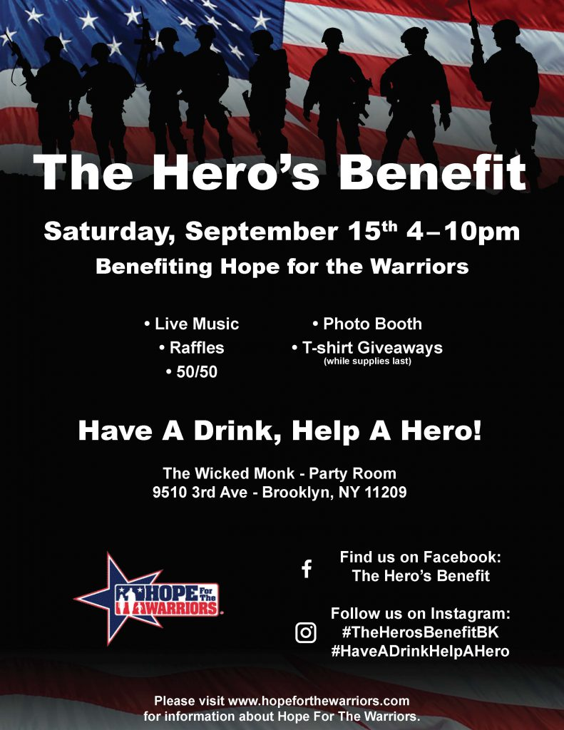 The Hero's Benefit @ The Wicked Monk - Party Room