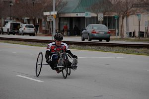 Ryan on handcycle Morehead
