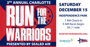 Charlotte Run For The Warriors presented by Sealed Air @ Independence Park