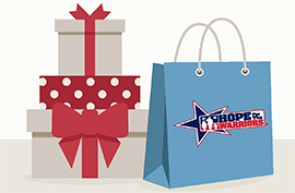 Hope holiday shop image