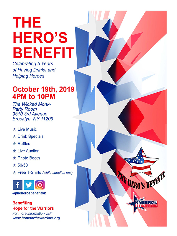 The Hero's Benefit @ Wicked Monk Party Room