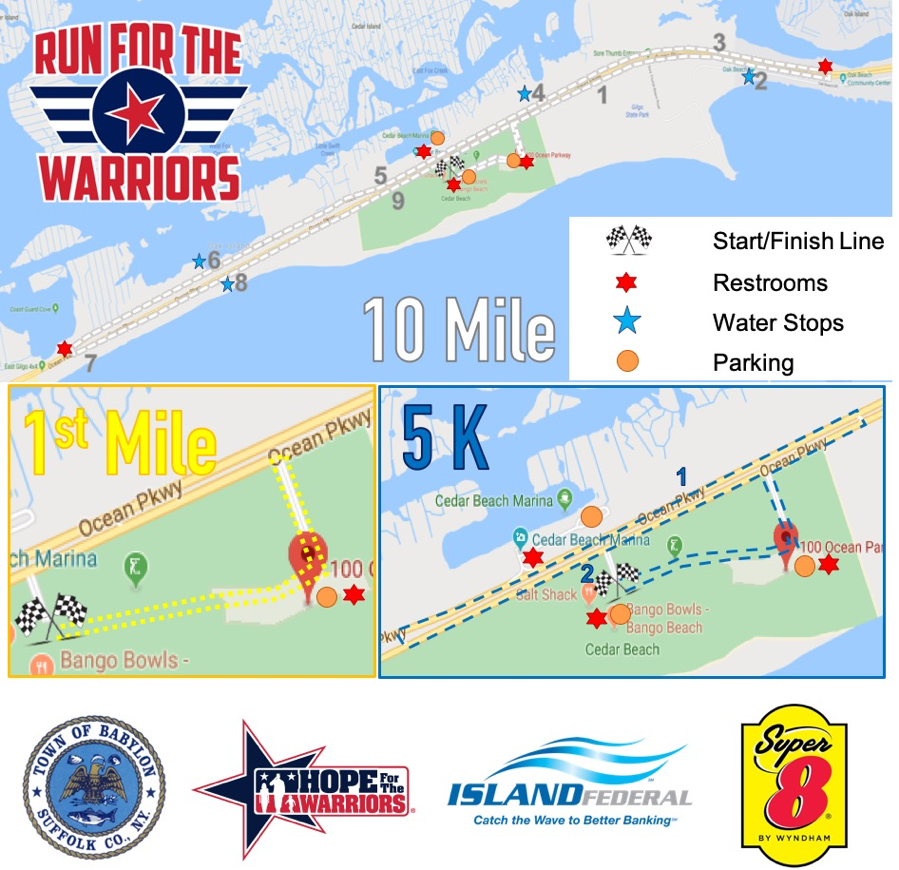 Long Island Run Course Map